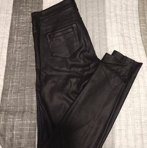 EUC Celebrity Pink size 3 Faux Leather Skinny